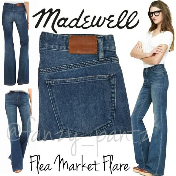 408cfb00c93 Madewell Denim - Madewell Flea Market Flare High Rise jeans 27 x 34